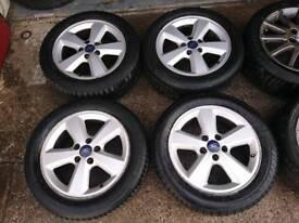 "Genuine OEM Ford 16"" 5x108 allloy wheels + tyres connect focus volvo jaguar"