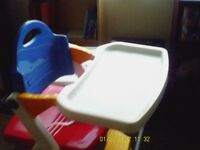 One Baby High Chair with feeding Table