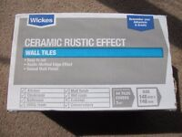 44 Ceramic Rustic Effect Wickes tiles in 148mm x 148mm size