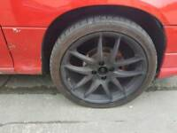 17 inch 4x100 alloy wheels new tyres