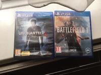 Battlefield 1 and unchartered 4