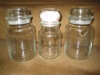 Three Air-Tight Glass Storage Jars