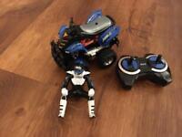 Remote control quad bike with rider