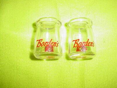2 Vintage Mini Miniature Bordens Creamer Milk Bottle Elsie The Cow
