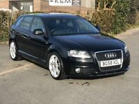2008 Audi A3 2.0 TDI S Line 170 Sportback 5dr, AA Approved, Finance This Car