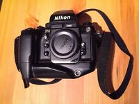 Nikon F4 film camera with MB-21 Battery Grip
