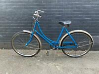 1970s Dutch bike electric blue bicycle