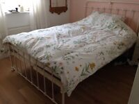 LAURA ASHLEY cream cast iron double bed frame