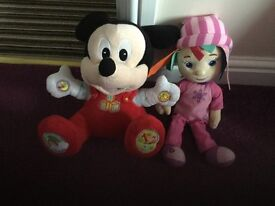 Disney Micky mouse and a lullaby doll
