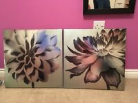 Black and gold canvas's
