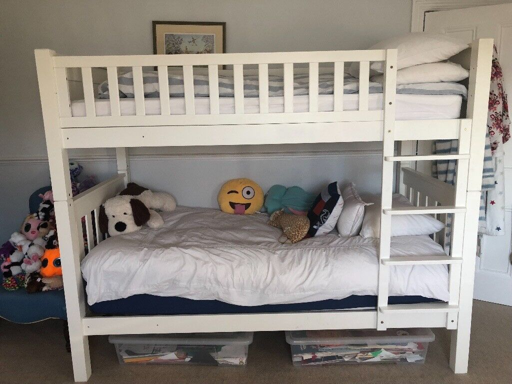 Stylish Bunk Beds With Top Bunk Mattress All In Top Condition