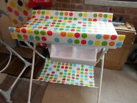 Baby assesories, small rocker, high chair, changing table,bouncer