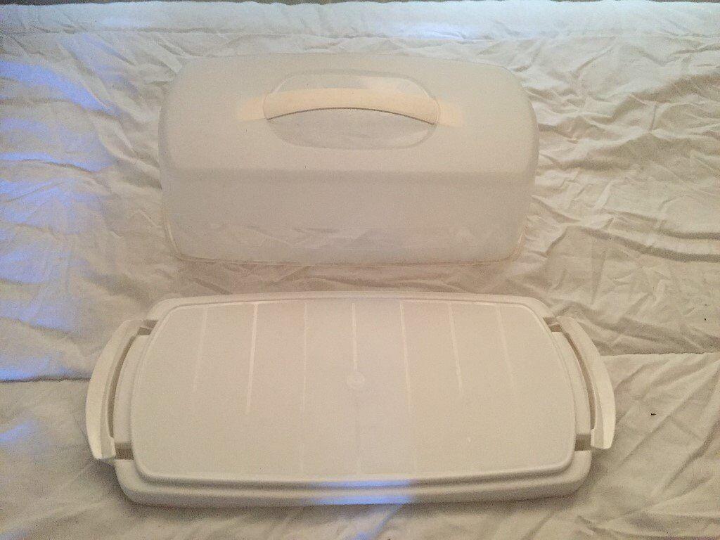 White Plastic Bread or Cake Saver