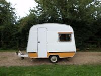 BEAUTIFUL VINTAGE CI SPRITE CADET 10 CLASSIC 4 BERTH RETRO TOURING CARAVAN AWNING DELIVERY