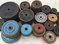 Cast iron weights £1/1kg