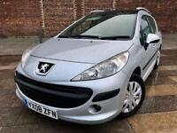 2008 PEUGEOT 207 / SE/ DIESEL / ESTATE / GLASS ROOF / CD / AUG MOT .