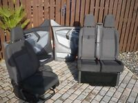 FORD TRANSIT CUSTOM FRONT SEATS ,DOOR CARDS NOT INCLUDED