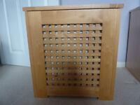 67 litre solid natural coloured wood laundry basket