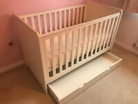 Mammas & Pappas Rocco Cot Bed & Drawer