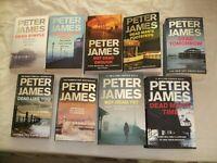 Peter James, Roy Grace novels 1-9 Excellent condition.