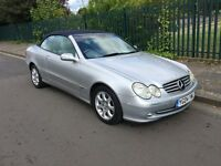 MERCEDES CONVERTIBLE AUTO C CLASS 200 SILVER WITH BLUE ROOF GREY LEATHERS