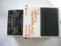 BOSS by Roland TU-2 Chromatic Tuner pedal/stompbox/effects unit for electric guitar - Taiwan