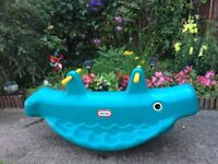 Little tikes Whale teeter totter blue see saw used