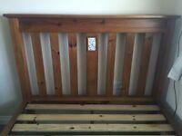 King size solid Oak 6 ft bed for sale