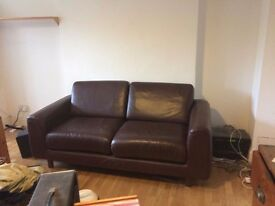 Brown Leather Sofa Habitat Style