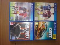 Ps4 games all perfect condition