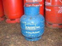 Calor Gas 'FULL' 4.5kg Butane gas bottle, can be delivered