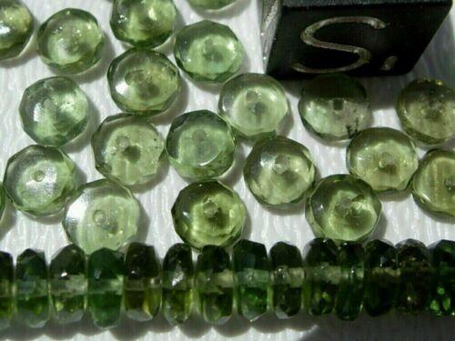 1 MOLDAVITE bead about 4x2mm each hand cut - $3.50 for each bead you want  w/COA