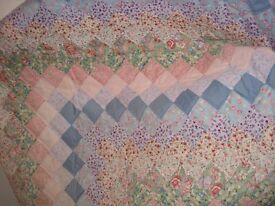 Vintage 1970 patchwork bedspread