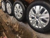 "New 16"" Genuine VW Transporter T5 T6 alloy wheels +new tyres T32 T30 CAN POST"