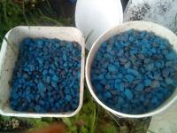 Azure blue garden stone medium