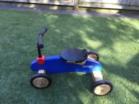 Blue trike for toddlers