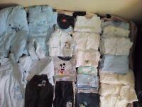 Boys clothes in bundle 0-3months