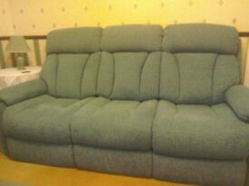 La-z-Boy 3 seater settee, chair and power recliner - Teal