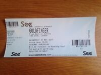 1x GOLDFINGER TICKET 100 CLUB OXFORD STREET LONDON 31st MAY