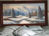 """Snowscene Jamison Oil Painting 24""""x48"""""""