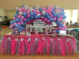 LOL surprise doll Birthday party table skirt