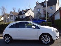 SUMMER/AUTUMN SALE (2010) VAUXHALL Corsa 1.2 SXi 3dr FACELIFT Model WHITE FREE DELIVERY/MOT/TAX/FUEL
