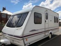 4 berth fixed bed swift challenger 500se. With extras and bradcot awning&annex I can deliver/Cheap