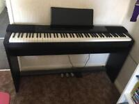 Casio Privia Digital Piano, stand, pedals and sheer stand