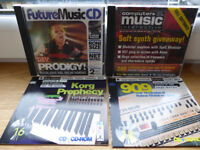 Music software CDs. Future Music, Remix, The Mix and Computer Music.