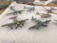 Collection of 12 Completed Airfix WWII Model Aircraft