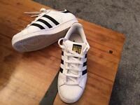 Adidas Superstar Trainers size 4