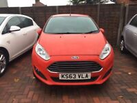 2014 FORD FIESTA 1.6 ZETEC POWERSHIFT,3 MNTHS WARRANTY,DIESEL,AUTO,RED,12 MNTHS MOT,ALLOYS,HPI CLEAR