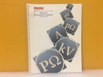 Keithley 485-901-01f 485 Autoranging Picoammeter Instruction Manual