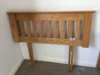 Solid Oak single bed headboard